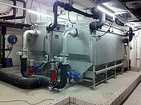 Two RoWin Heat Exchanger size 8 installed in the second basement of the Wintower building at Winterthur