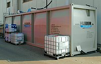 Containerised test plant at Erdinger brewery