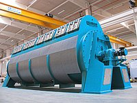 HUBER Disc Dryer RotaDry® for homogeneous partial drying of dewatered sewage sludge