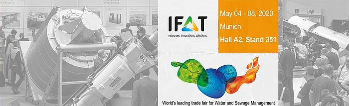 Meet us at IFAT 2020 in Munich: Hall A2, Stand 351