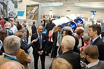 The fair tour of the Bavarian committee on environment and health visited the HUBER stand on Thu. 05-10