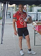 Dr. Johann Grienberger still looked fresh and fit after his 22 km ride