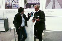 Radio and TV also attended the stand and gathered news about HUBER´s innovations and capability