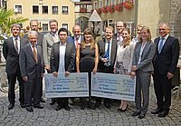 The awarded winners together with Bavarian Environment Minister Dr. Marcel Huber, executive committee and board of Huber Technology Foundation