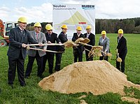 Ground-breaking ceremony for the expansion of the HUBER production area