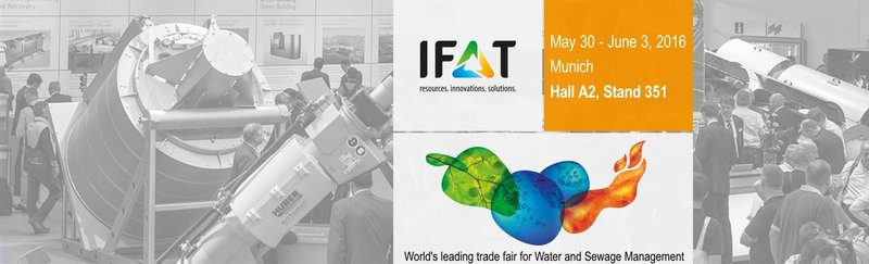 Meet us at IFAT 2016: Hall A2, stand 351