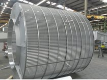 RPPS-Star screen basket, 2600 mm diameter, 1 mm perforation