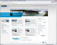 Screenshot www.huber-technology.com
