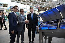 The official fair tour with Parliamentary State Secretary at the German Ministry for the Environment, Florian Pronold, and Bavarian Minister of Environment, Dr. Marcel Huber meet our CEO at the HUBER stand