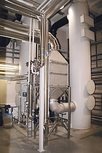 Heat recovery of the dryer and exhaust air treatment